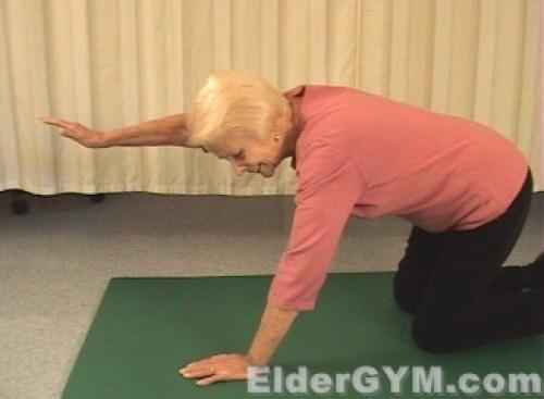 Arm raise back end position
