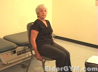 Seated hip lifts start