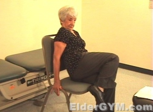 Seated hip lifts end