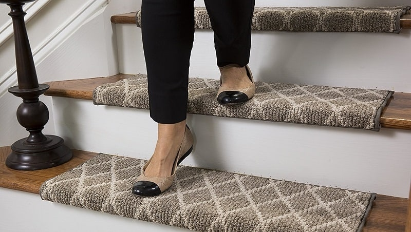 10 Best Slip Free Strips And Treads For Indoor Stairs 2020   Painted Stairs With Carpet Treads   Carpet Covered   Bare Wood   Design   Carpeting   Charcoal Grey