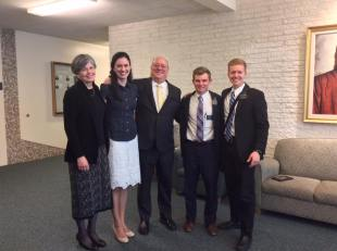 """The Soressi's are incredible examples of charity. They radiate joy. Every time we get a chance to talk with them, we always leave feeling uplifted and edified. In the Book of Mormon, Moroni teaches, """"Charity is the pure love of Christ"""" (Moroni 7:47). We'd definitely say the Soressi's have the pure love of Christ. AND whenever they share their testimonies, the Spirit fills the room. We sure love them!"""