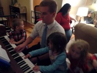 Elder Staheli Playing Piano