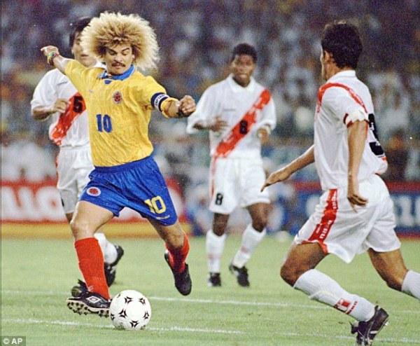 Carlos Valderrama, uno de los grandes jugadores latinoamericanos de todos los tiempos.