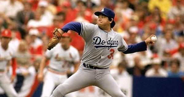Fernando Valenzuela como jugador de los Dodgers de L.A.