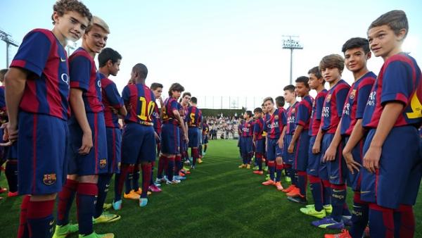 La cantera del Barcelona. Foto: cortesía Barcelona.