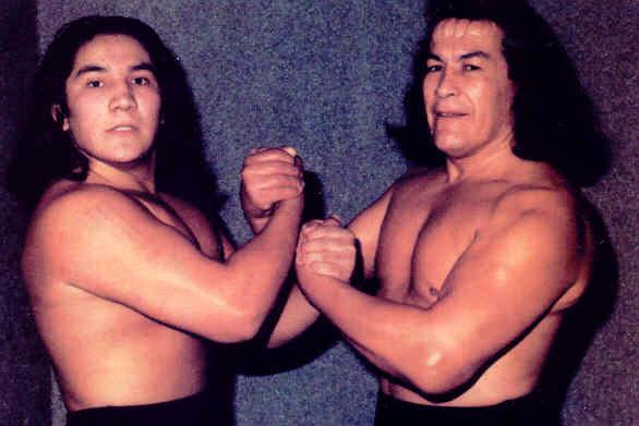 Dos generaciones de luchadores.