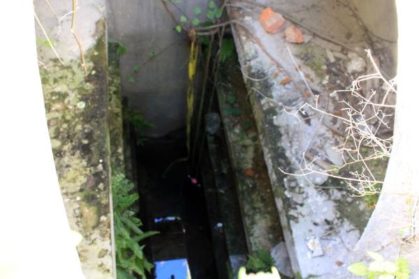 Tumba con profundidad para cinco cuerpos. Foto: Siboney Flores.