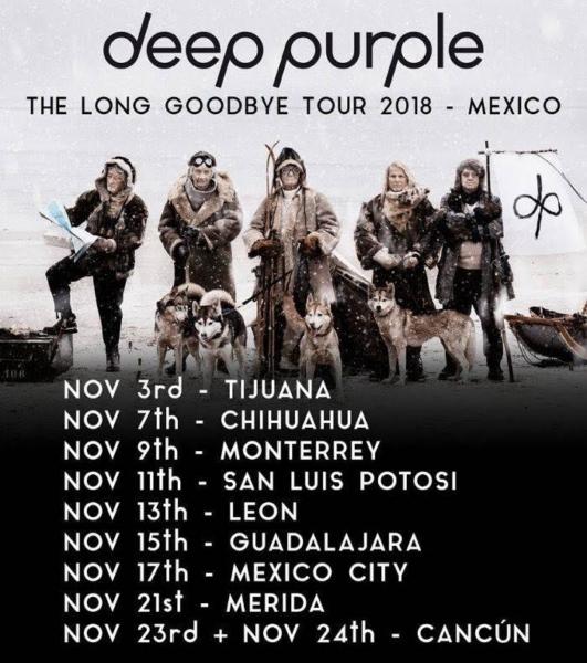 Deep Purple Long Good Bye Tour