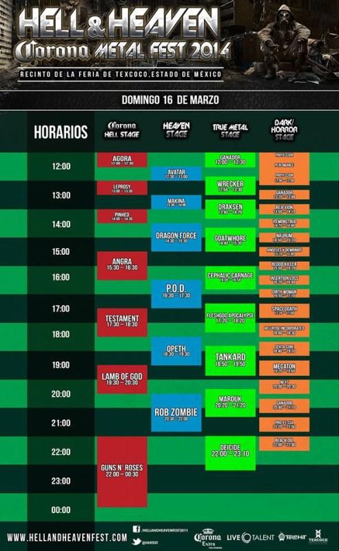 Horarios HHMF 2