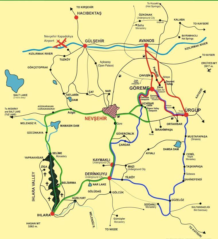 Mapa Capadocia