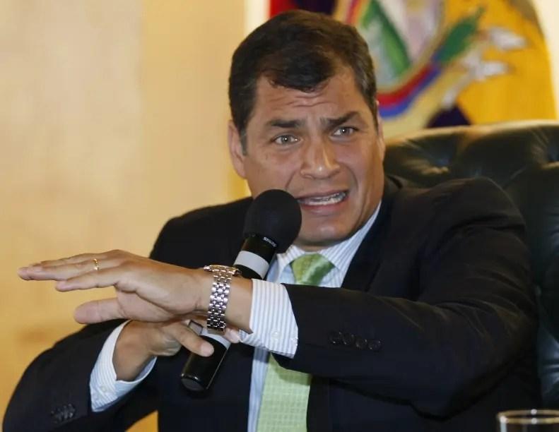 Rafael Correa, presidente de Ecuador. Foto de archivo