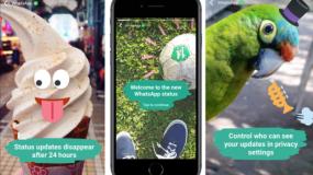 """Los nuevos """"Estados"""" de WhatsApp combinan texto con fotos, videos y GIFs."""