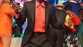 Cuco Valoy durante una de sus recientes presentaciones.