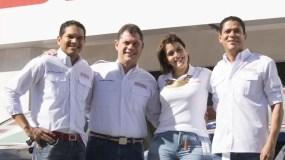 Oscar Santana, Aníbal Rodríguez, Betzaida Matos y Vladimir de León.