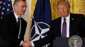 El presidente Donald Trumo y el general Jens Stoltenberg.