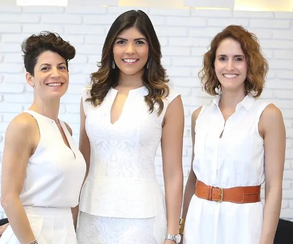 Julissa Barrientos, Carol Zapata y Anet Pérez Mella.