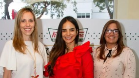 Ilonka Herrera, Glency Féliz, Tatiana Núñez y Gaila José.