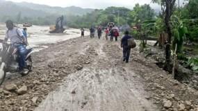 Las lluvias  colapsaron al menos 42 puentes, 13 carreteras, 18 caminos vecinales y numerosos muros de gaviones.