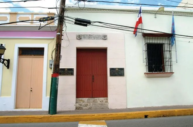 Hogar donde nació y vivió el patricio Juan Pablo Duarte. Ahora Museo Casa Duarte, declarada como patrimonio de la humanidad.