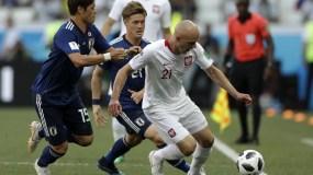 Jan Bednareke se convirtió en el héroe de Polonia ayer al marcar el único gol.  AP
