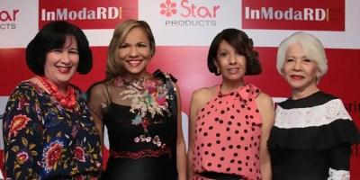 Margarita González Auffant, Isabel Reynoso, Elisa Morató y  Farah Cabrera en el anuncio de la muestra sobre la moda dominicana.