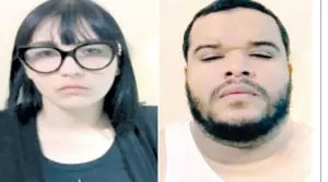 Janelys Delgado Rey y Fernando Hilario Figueroa, detenidos.