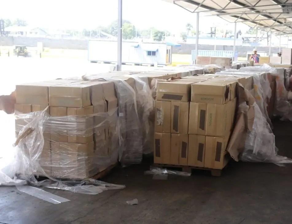 Aduanas incauta más de siete millones de cigarrillos en puerto de Haina