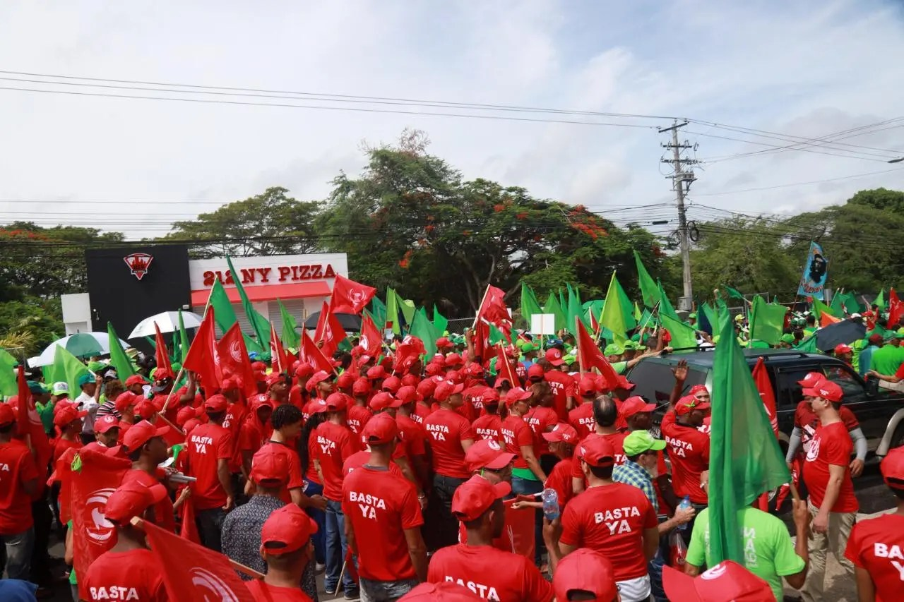 """Movimiento """"Basta Ya"""" denuncia en Marcha del Cibao que la corrupción ha llegado a límites insostenibles"""