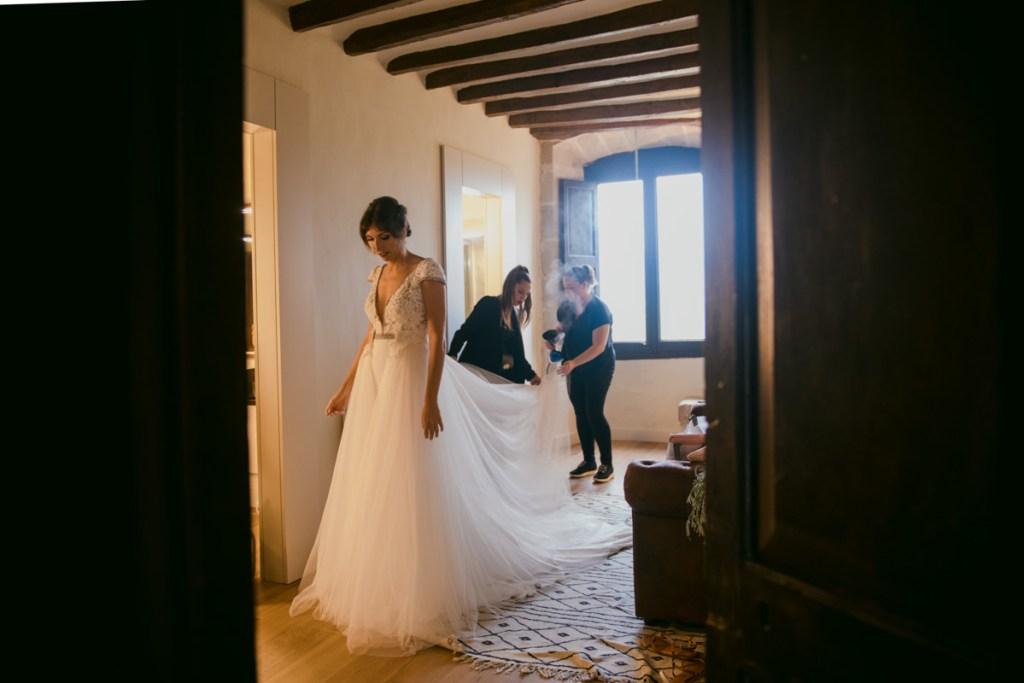 boda de el dia de en castell de tous, barcelona