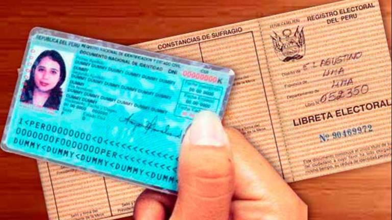 el primer documento de identidad utilizada en el Perú