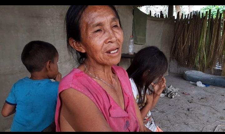 Ana Pérez, abuela de niños con desnutrición en indígenas