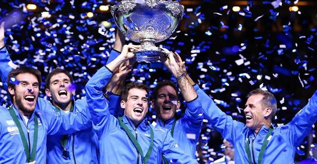 Los campeones de la Copa Davis fueron recibidos por Mauricio Macri
