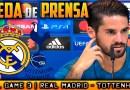 VÍDEO | Rueda de prensa de Isco previa al partido ante el Tottenham