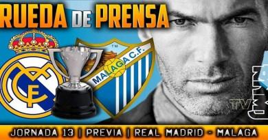 VÍDEO   Rueda de prensa de Zinedine Zidane previa al partido ante el Málaga