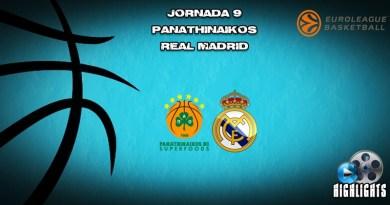 VÍDEO   Highlights   Panathinaikos vs Real Madrid   Euroleague   Jornada 9