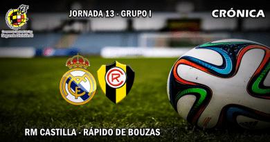 CRÓNICA   Reaccionan: RM Castilla 3 – 0 Rápido de Bouzas