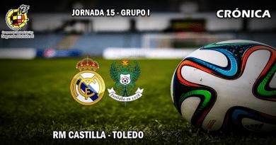 CRÓNICA   El Castilla frena su racha de victorias ante el Toledo: RM Castilla 1 – 1 CD Toledo