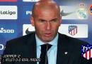 VÍDEO | Rueda de prensa de Zinedine Zidane tras el partido ante el Atlético