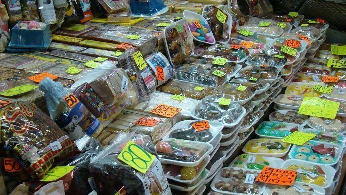 Duldes criollos en el Mercado Principal de Mérida