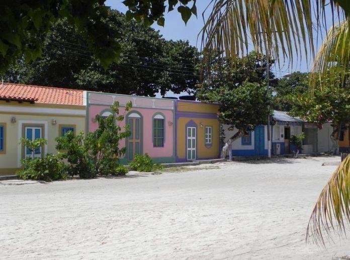 Calle de arena en el Gran Roque