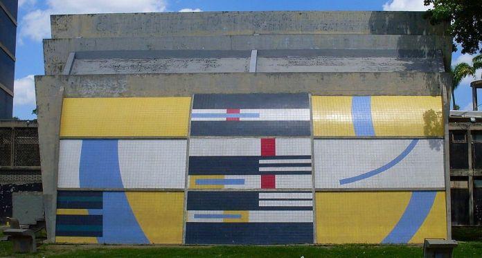 Mural de Mateo Manaure en la Sala de Conciertos de la Ciudad Universitaria