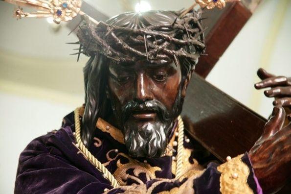 Detalle del rostro del Nazareno de San Pablo