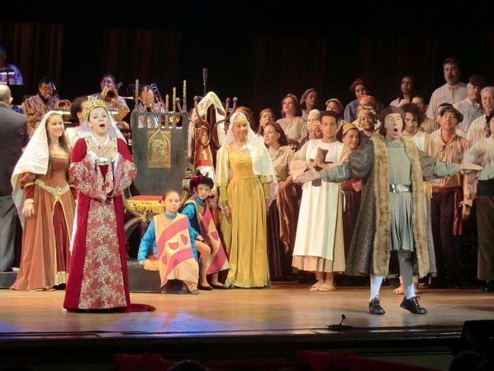 Escena de Los Martirios de Colón, ópera basada en textos de Aquiles Nazoa