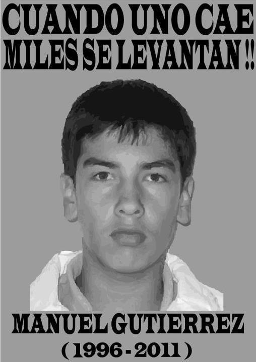 Impotencia y Rabia ante el Asesinato de Manuel Gutiérrez en manos de Carabineros.