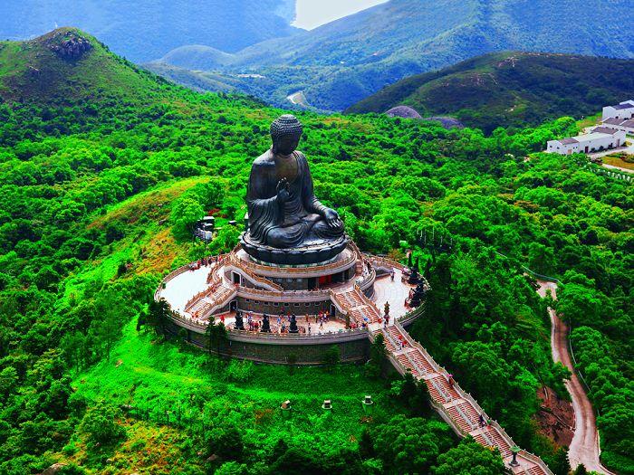 Isla Lantau: centro budista de Hong Kong.