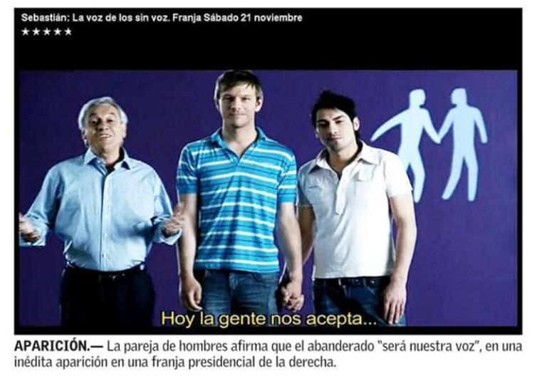 El homosexual en Chile tiene que salir del clóset para encerrarse en la pieza