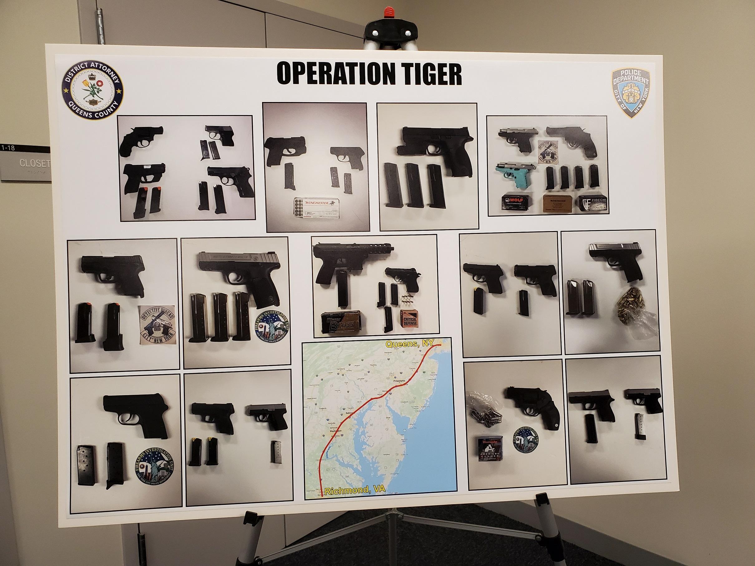 Desmantelan banda que traficaba armas entre Nueva York y Virginia, liderada por mujer de Queens