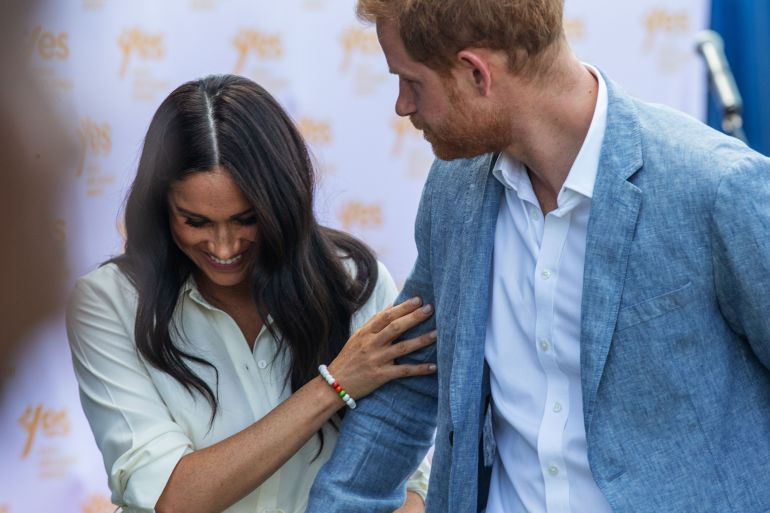 Nine times.  Police have visited the home of Meghan Markle and Prince Harry nine times