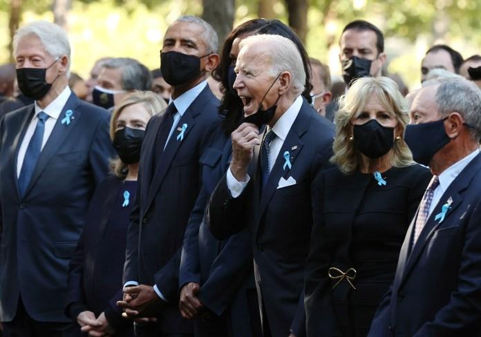 Bill y Hillary Clinton, Barack y Michelle Obama, Joe y Jill Biden y ex alcalde Michael Bloomberg.
