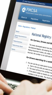 The DOT set up a search tool; full registry remains offline